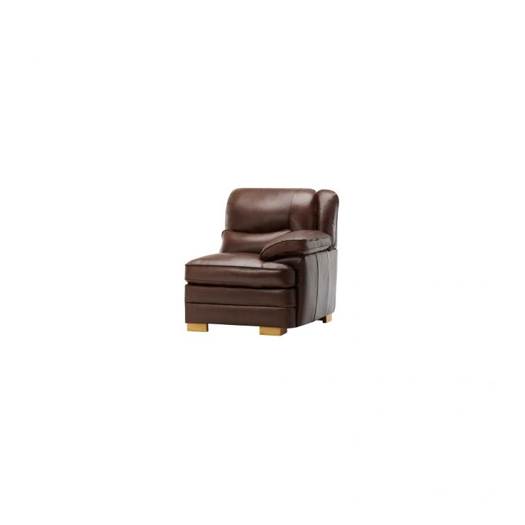 Modena Right Arm Module in 2 Tone Brown Leather - Image 3