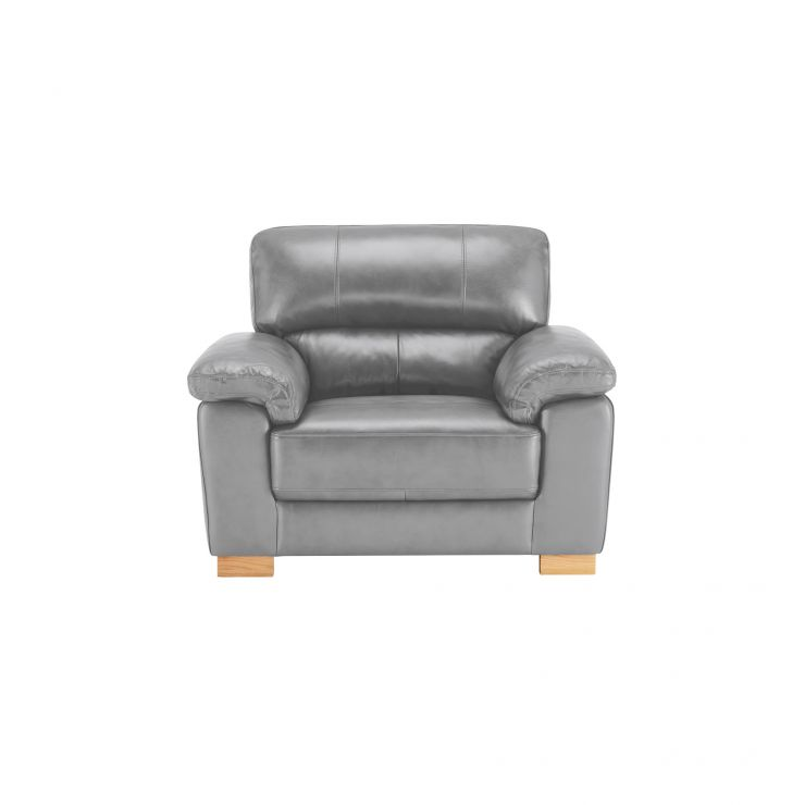 Monza Armchair - Dark Grey Leather