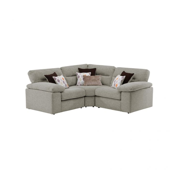 Morgan Modular Group 1 in Santos Mink with Orange and Beige Scatters