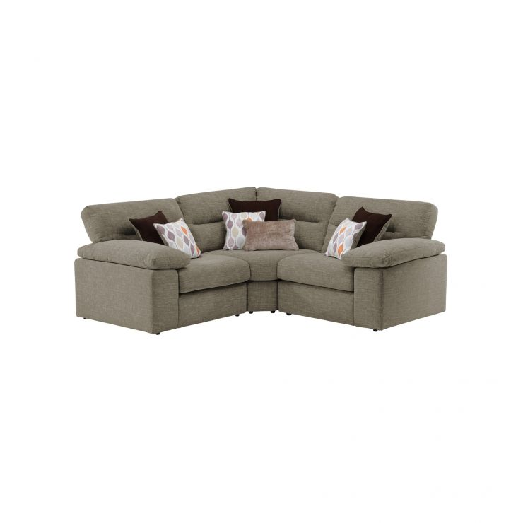 Morgan Modular Group 1 in Santos Taupe with Orange and Beige Scatters
