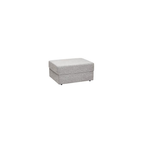 Morgan Storage Footstool in Santos Silver