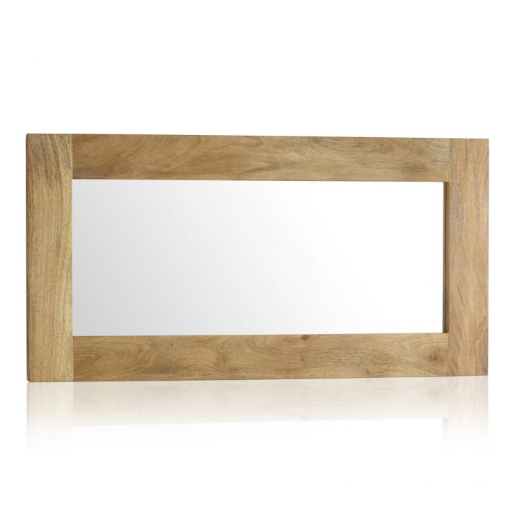 Natural Solid Light Mango 1200mm x 600mm Wall Mirror - Image 4