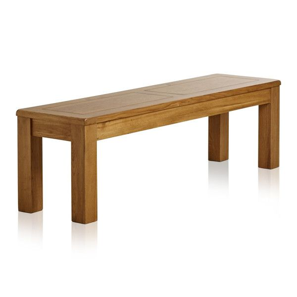 "Natural Solid Oak 4ft 11"" Bench"
