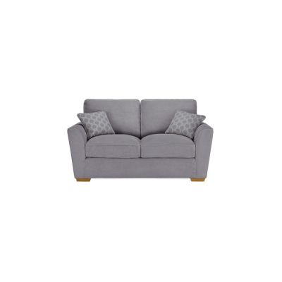 Nebraska 2 Seater High Back Sofa - Aero Silver with Silver Scatters