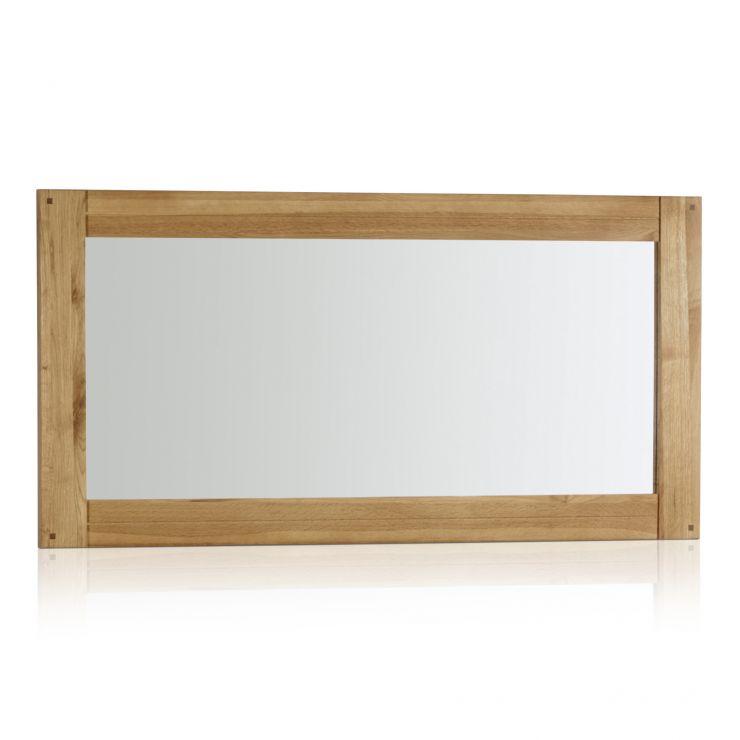 Newark Natural Solid Oak 1200mm x 600mm Wall Mirror - Image 4