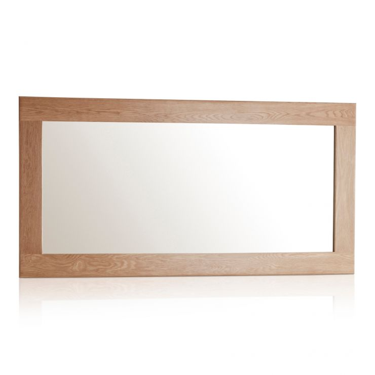 Oakdale Natural Solid Oak 1200mm x 600mm Wall Mirror - Image 1