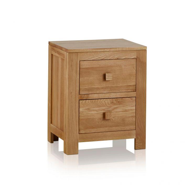 Oakdale Natural Solid Oak 2 Drawer Bedside Table - Image 5