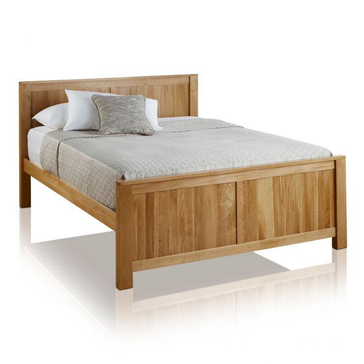 """Oakdale Natural Solid Oak 4ft 6"""" Double Bed - Image 4"""