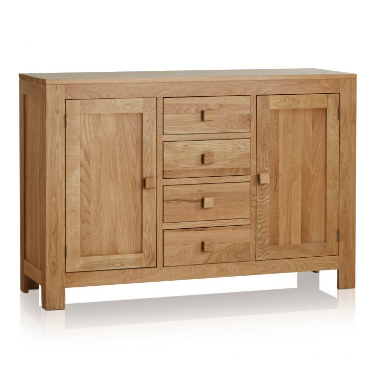 Oakdale Natural Solid Oak Large Sideboard