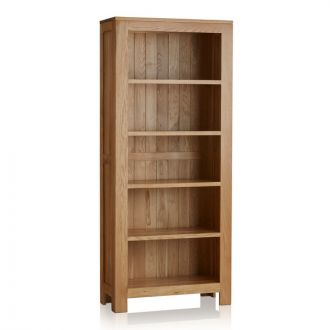 Oakdale Natural Solid Oak Tall Bookcase