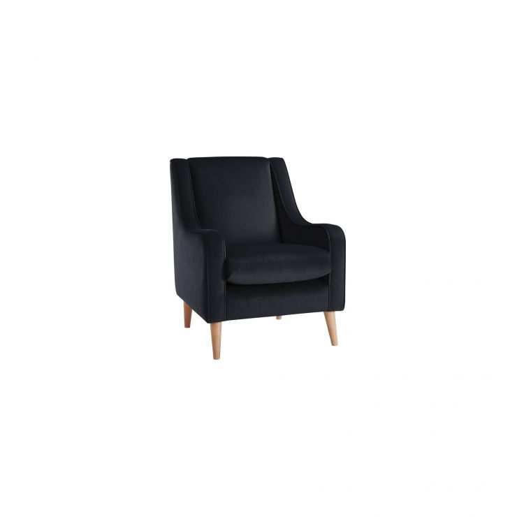 Orbit Velvet Accent Chair in Dark Grey - Image 1