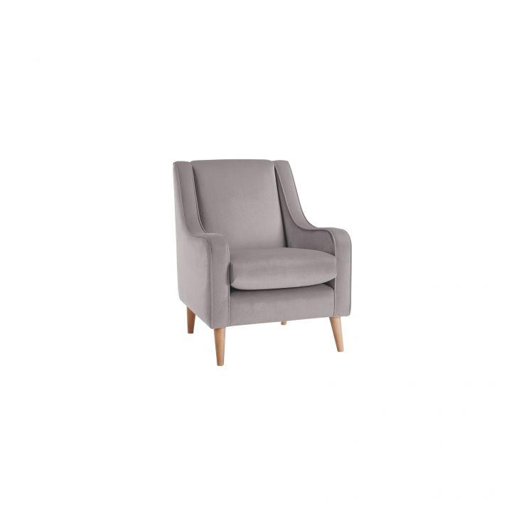 Orbit Velvet Accent Chair in Light Grey