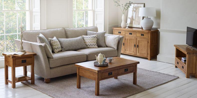 Stupendous Rustic Wood Furniture Original Rustic Oak Furnitureland Evergreenethics Interior Chair Design Evergreenethicsorg