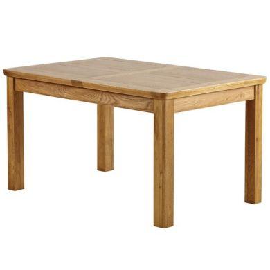 "Orrick 4ft 7"" x 3ft Rustic Solid Oak Extending Dining Table"
