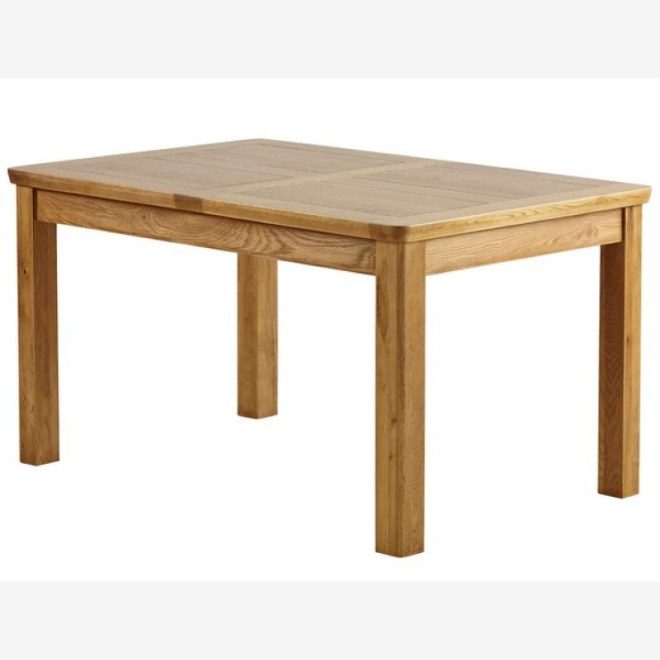 "Orrick Rustic Solid Oak 4ft 7"" x 3ft Extending Dining Table - Image 7"