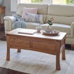 Orrick Rustic Solid Oak 4 Drawer Storage Coffee Table - Thumbnail 3