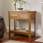 Orrick Rustic Solid Oak Console Table - Thumbnail 3