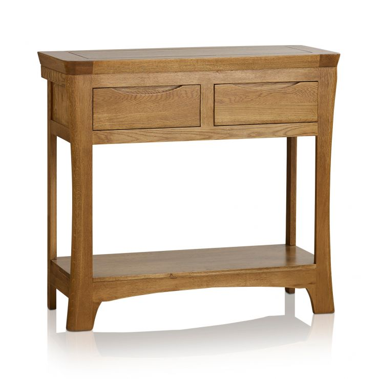 Orrick Rustic Solid Oak Console Table - Image 6
