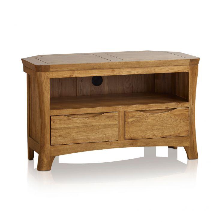 online store 776ce 2e49f Orrick Rustic Solid Oak Corner TV Cabinet