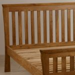 "Orrick Rustic Solid Oak 4ft 6"" Double Bed - Thumbnail 4"