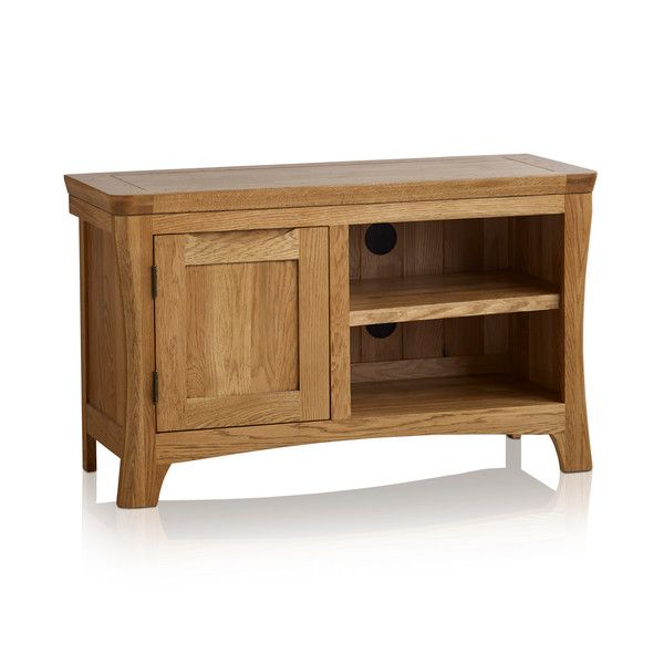 Orrick Rustic Solid Oak Small TV Cabinet