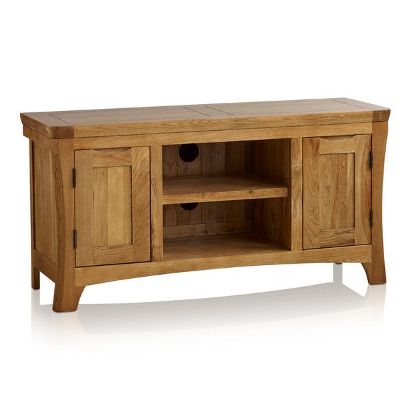 Orrick Rustic Solid Oak Large TV Cabinet