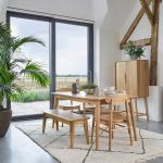 Oscar Natural Solid Oak 6 Seater Dining Table - Thumbnail 3