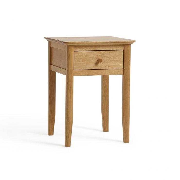 Oslo Natural Solid Oak 1 Drawer Bedside Table