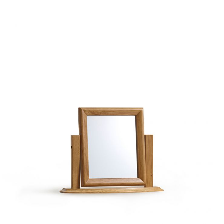 Oslo Natural Solid Oak Dressing Table Mirror