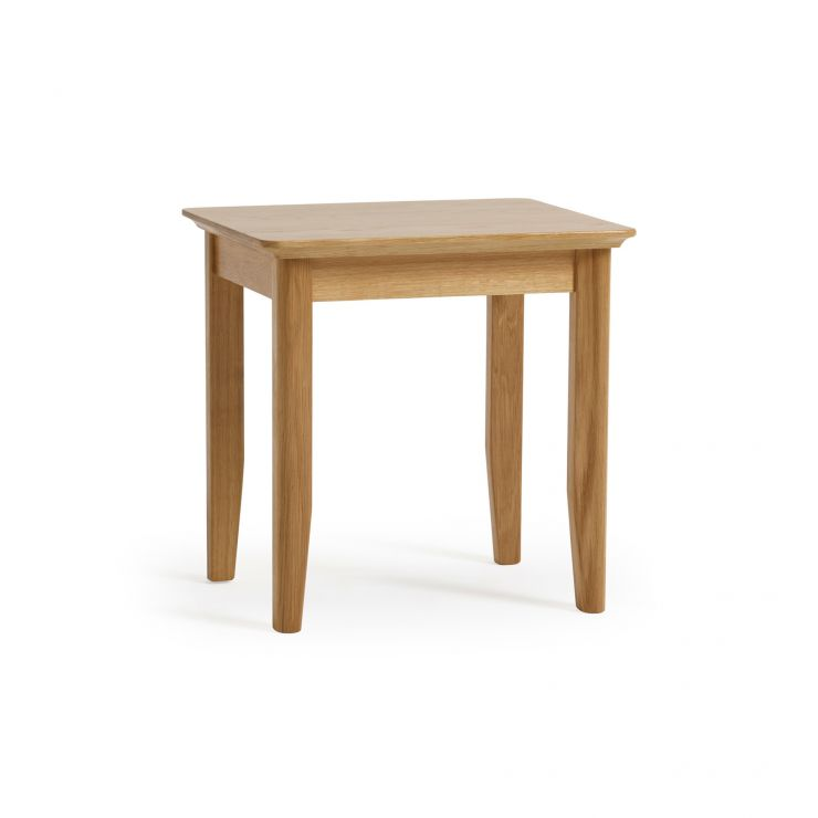 Oslo Natural Solid Oak Dressing Table Stool