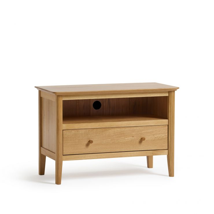 Oslo Natural Solid Oak Small TV Unit