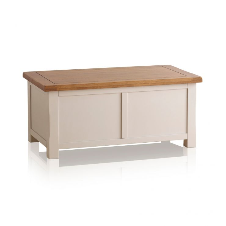 Kemble Rustic Solid Oak and Painted Blanket Box - Image 4