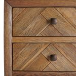 Parquet Brushed and Glazed Oak 2+3 Chest of Drawers - Thumbnail 5