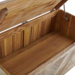 Parquet Brushed and Glazed Oak Blanket Box - Thumbnail 2