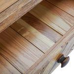 Parquet Brushed and Glazed Oak Computer Desk - Thumbnail 7