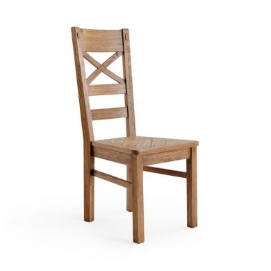 Parquet Brushed and Glazed Oak Dining Chair