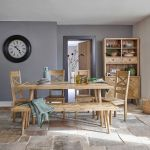 Parquet Brushed and Glazed Oak Dining Set with 1 Parquet Bench and 4 Parquet Chairs - Thumbnail 1
