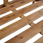 Parquet Brushed and Glazed Oak Double Bed - Thumbnail 5