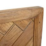 Parquet Brushed and Glazed Oak Double Bed - Thumbnail 4