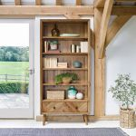 Parquet Brushed and Glazed Oak Tall Bookcase - Thumbnail 1