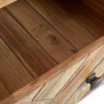 Parquet Brushed and Glazed Oak Triple Wardrobe - Thumbnail 6