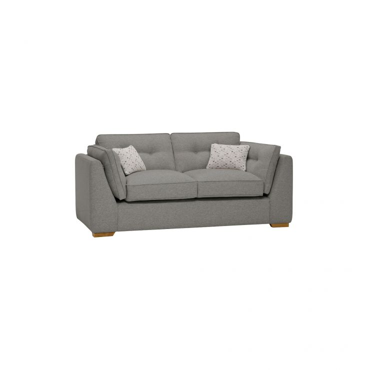 Pasadena 2 Seater High Back Sofa in Denzel Graphite with Blockbuster Slate Scatters