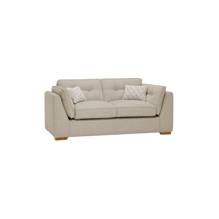 Pasadena 2 Seater High Back Sofa in Denzel Natural with Blockbuster Honey Scatters