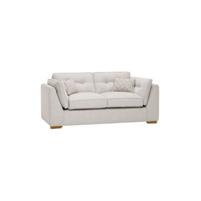 Pasadena 2 Seater High Back Sofa in Denzel Pebble with Blockbuster Honey Scatters