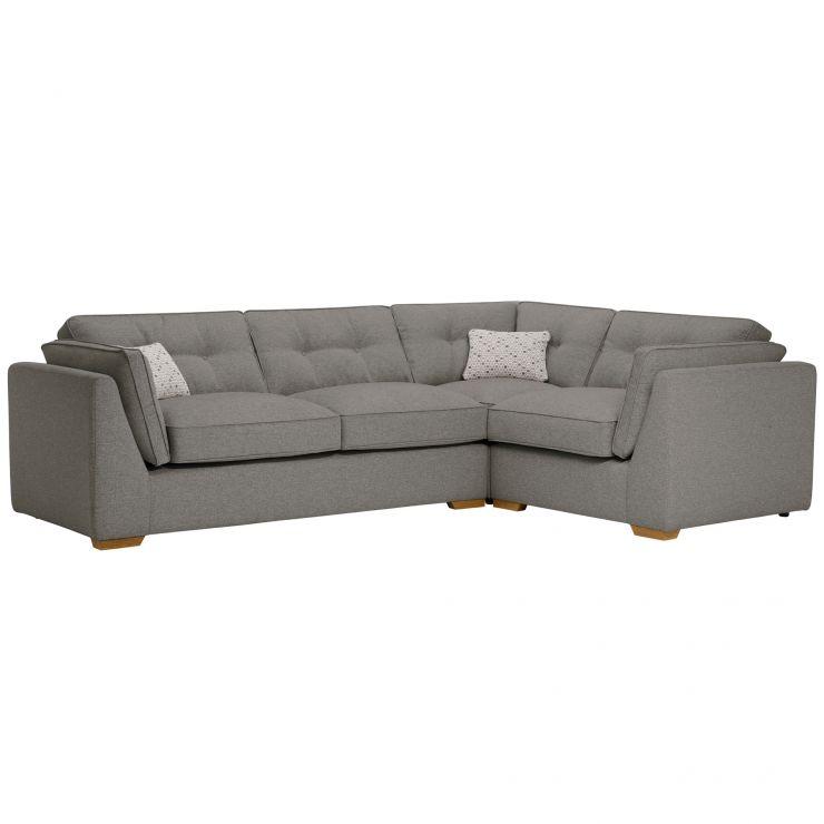 Pasadena Left Hand High Back Corner Sofa in Denzel Graphite with Blockbuster Slate Scatters