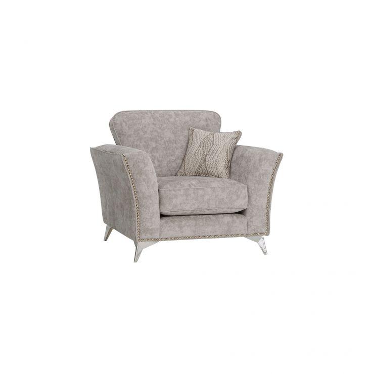 Quartz Nickel Armchair in Fabric