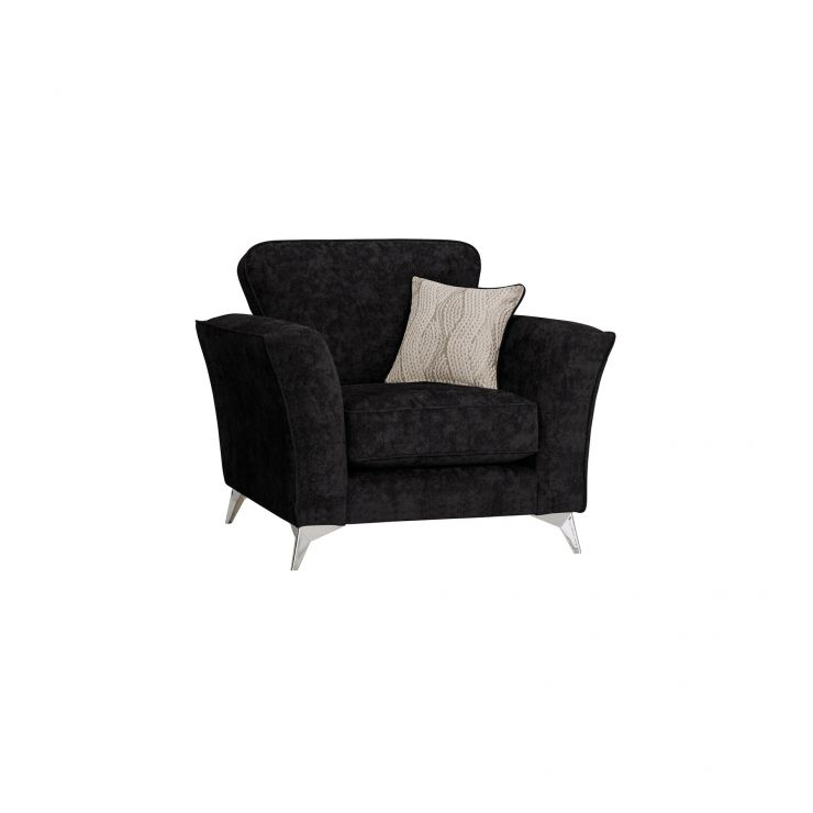 Quartz Traditional Black Armchair in Fabric