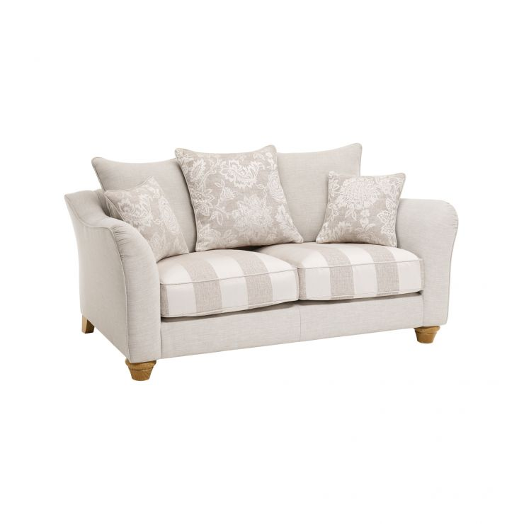 Regency 2 Seater Pillow Back Sofa in Lyon Silver