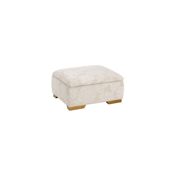 Regency Storage Footstool in Floral Natural
