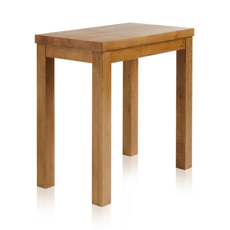 "Rhodes Rustic Solid Oak 3ft 3"" by 2ft Breakfast Table - Image 4"